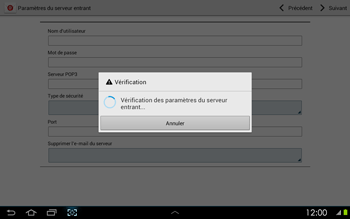 Samsung P5100 Galaxy Tab 2 10-1 - E-mail - Configurer l