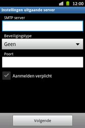 Samsung S6500D Galaxy Mini 2 - E-mail - Handmatig instellen - Stap 12
