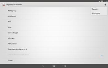 Sony Xperia Tablet Z2 (SGP521) - Internet - handmatig instellen - Stap 15