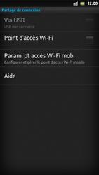Sony Xpéria S - Internet et connexion - Partager votre connexion en Wi-Fi - Étape 6