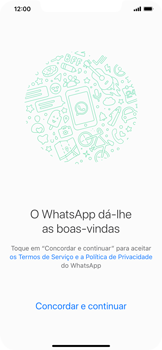 Apple iPhone XS Max - Aplicações - Como configurar o WhatsApp -  7