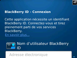 BlackBerry 9320 Curve - BlackBerry activation - BlackBerry ID activation - Étape 6