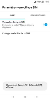 Alcatel 3L - Sécuriser votre mobile - Personnaliser le code PIN de votre carte SIM - Étape 10