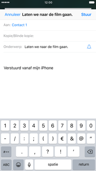 Apple iPhone 6 Plus iOS 10 - E-mail - Bericht met attachment versturen - Stap 7