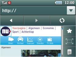Samsung C3500 Chat 350 - Internet - Hoe te internetten - Stap 13