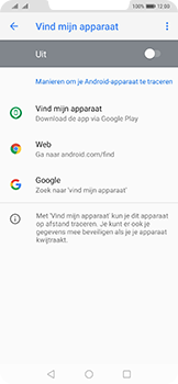Huawei Mate 20 Pro - Toestel - Stel Zoek mijn mobiel in - Stap 5