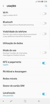Samsung Galaxy Note 8 - Android Oreo - Internet no telemóvel - Como configurar ligação à internet -  5