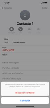 Apple iPhone XR - Chamadas - Como bloquear chamadas de um número -  6