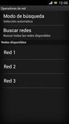 Sony Xperia J - Red - Seleccionar una red - Paso 8