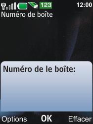 Nokia 6600i slide - Messagerie vocale - Configuration manuelle - Étape 6