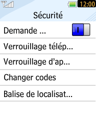 LG T385 - Sécuriser votre mobile - Personnaliser le code PIN de votre carte SIM - Étape 6