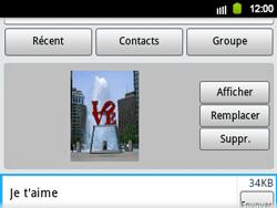 Samsung B5510 Galaxy TXT - MMS - envoi d'images - Étape 11