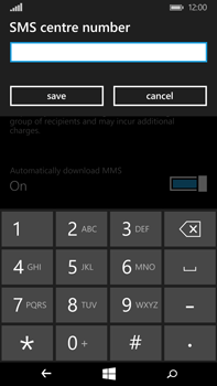 Microsoft Lumia 640 XL - SMS - Manual configuration - Step 7