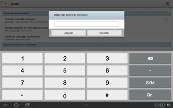 Samsung P7500 Galaxy Tab 10-1 - Mensajería - Configurar el equipo para mensajes de texto - Paso 6