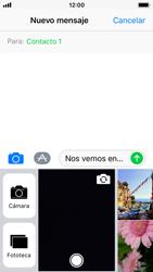 Apple iPhone SE iOS 11 - Mensajería - Escribir y enviar un mensaje multimedia - Paso 10