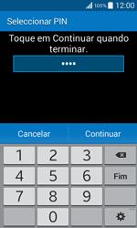 Samsung Galaxy Core II - Segurança - Como ativar o código de bloqueio do ecrã -  8