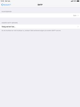 Apple ipad-mini-2-ios-12 - E-mail - Account instellen (POP3 met SMTP-verificatie) - Stap 20