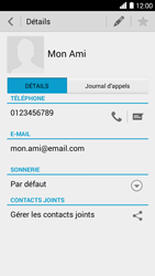 Bouygues Telecom Ultym 5 - Contact, Appels, SMS/MMS - Ajouter un contact - Étape 11