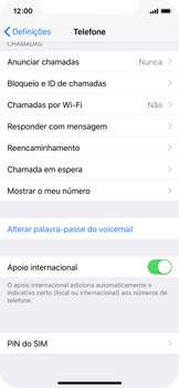 Apple iPhone X - Segurança - Como ativar o código PIN do cartão de telemóvel -  4