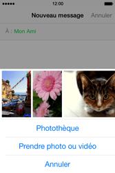Apple iPhone 4S (iOS 8) - Contact, Appels, SMS/MMS - Envoyer un MMS - Étape 9