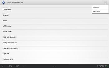 Samsung P7500 Galaxy Tab 10-1 - Mensajería - Configurar el equipo para mensajes multimedia - Paso 13