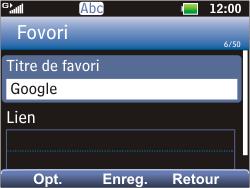 LG C360 Golf - Internet - Navigation sur Internet - Étape 7