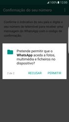 Samsung Galaxy S7 Edge - Aplicações - Como configurar o WhatsApp -  9