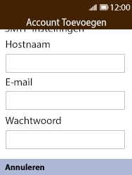 Nokia 8110 - E-mail - Account instellen (IMAP met SMTP-verificatie) - Stap 11