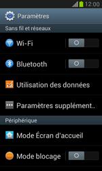 Samsung Galaxy S3 Mini - Internet et connexion - Partager votre connexion en Wi-Fi - Étape 4