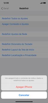 Apple iPhone X - iOS 13 - Funções básicas - Como restaurar as configurações originais do seu aparelho - Etapa 6