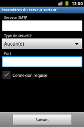 Samsung S7500 Galaxy Ace Plus - E-mail - Configuration manuelle - Étape 13