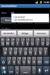 Samsung S5690 Galaxy Xcover - E-mail - hoe te versturen - Stap 6