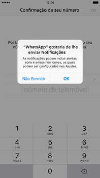 Apple iPhone 6s Plus - Aplicações - Como configurar o WhatsApp -  6
