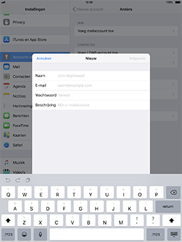 Apple iPad Pro 10.5 inch met iOS 11 (Model A1709) - E-mail - Handmatig instellen - Stap 8