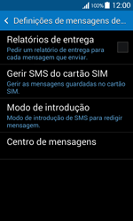 Samsung Galaxy Ace 4 - SMS - Como configurar o centro de mensagens -  9