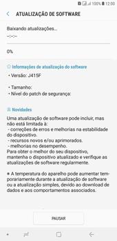 Samsung J4+ - Funções básicas - Como atualizar o software do seu aparelho - Etapa 7