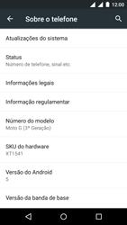 Motorola Moto G (3ª Geração) - Primeiros passos - Como encontrar o número de IMEI do seu aparelho - Etapa 5
