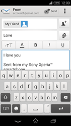 Sony D2203 Xperia E3 - E-mail - Sending emails - Step 10