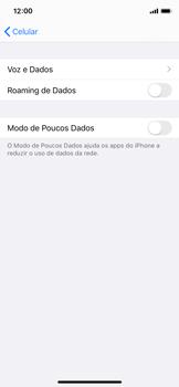 Apple iPhone X - iOS 13 - Rede móvel - Como ativar e desativar o roaming de dados - Etapa 5