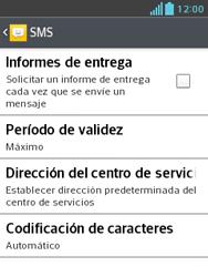 LG Optimus L3 II - Mensajería - Configurar el equipo para mensajes de texto - Paso 7