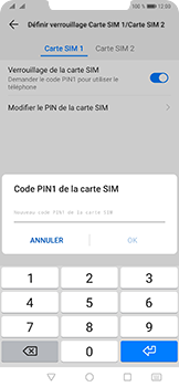 Huawei Mate 20 Pro - Sécurité - modifier SIM PIN - Étape 11