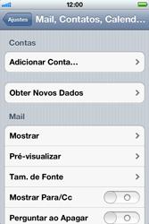 Apple iPhone iOS 5 - Email - Como configurar seu celular para receber e enviar e-mails - Etapa 4