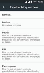 """Alcatel Pixi 4 (4"""") - Segurança - Como ativar o código de bloqueio do ecrã -  6"""