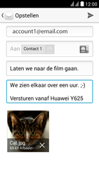 Huawei Y625 - E-mail - E-mails verzenden - Stap 16