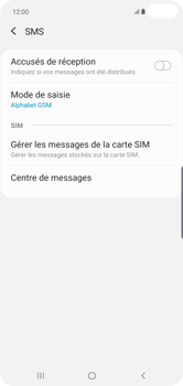 Samsung Galaxy S10 Plus - SMS - configuration manuelle - Étape 11
