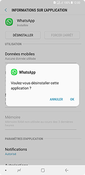Samsung Galaxy A7 2018 - Applications - Supprimer une application - Étape 7