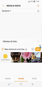 Samsung Galaxy S8 - Mensajería - Escribir y enviar un mensaje multimedia - Paso 13