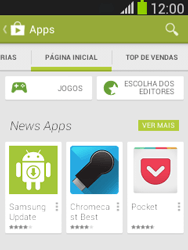 Samsung S5310B Galaxy Pocket Neo - Aplicativos - Como baixar aplicativos - Etapa 5