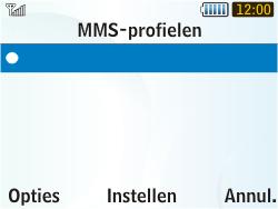 Samsung S3350 Chat 335 - MMS - handmatig instellen - Stap 17
