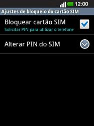 LG E400 - Segurança - Como ativar o código PIN do cartão de telemóvel -  10